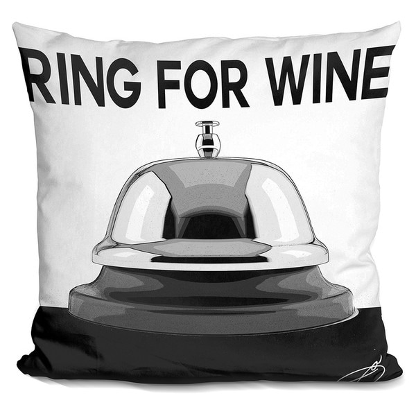 By Jodi 'Ring for wine' Throw Pillow