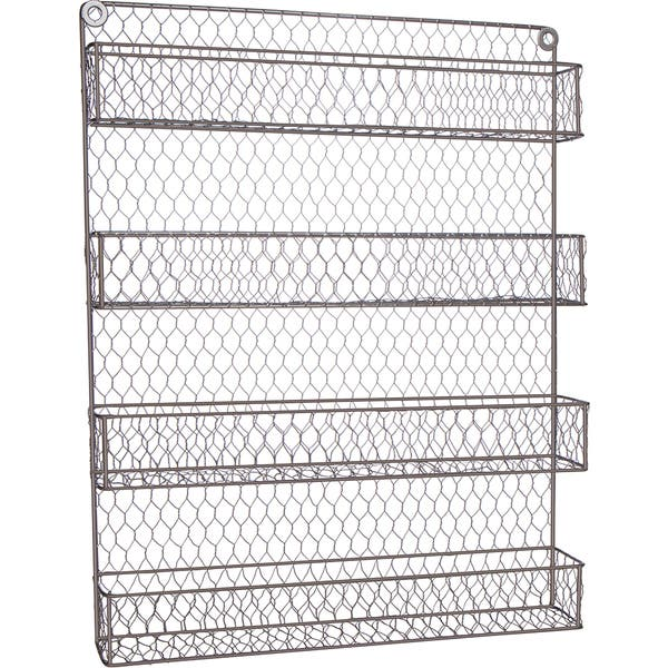 4 Tier Wire Spice Rack Storage Organizer Wall Mount Or Countertop By Trademark Innovations