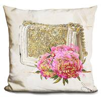By Jodi 'My bag in gold' Throw Pillow