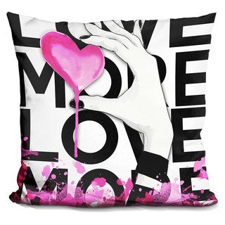 By Jodi 'Love more' Throw Pillow