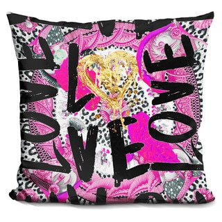 By Jodi 'Love me in pink' Throw Pillow