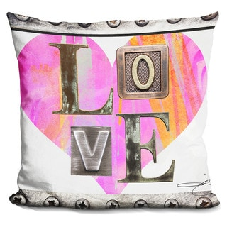 By Jodi 'Love in Pink' Throw Pillow
