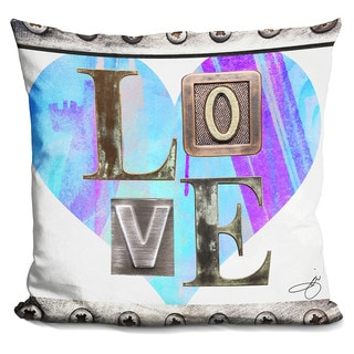 By Jodi 'Love in blue' Throw Pillow