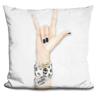 By Jodi 'Love and skulls' Throw Pillow