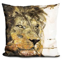 By Jodi 'Leo in gold' Throw Pillow