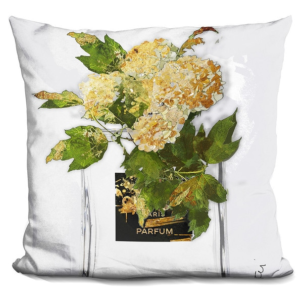 By Jodi 'Gold flowers' Throw Pillow