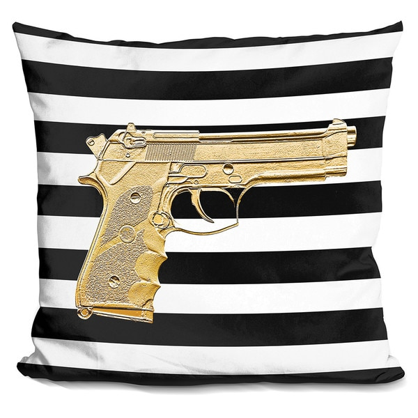 By Jodi 'Armed in gold' Throw Pillow