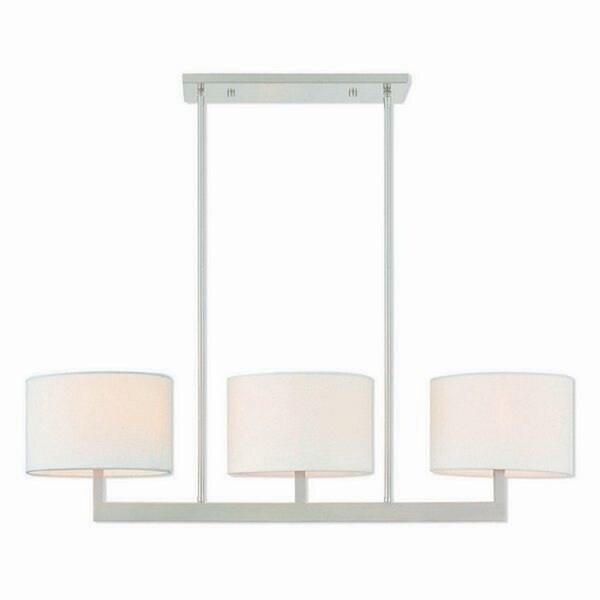 Livex Lighting 42405-91 Hayworth 3 light Brushed Nickel Indoor Chandelier - Silver