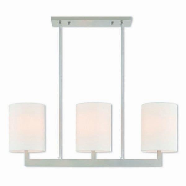 Livex Lighting 42404-91 Hayworth 3 light Brushed Nickel Indoor Chandelier - Silver