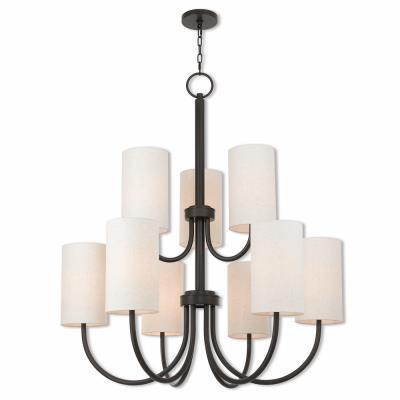 Livex Lighting 41169-92 Haddonfield Bronze 9-light Indoor Chandelier