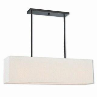 Livex Lighting 41156-92 Summit Bronze Steel 4-light Indoor Chandelier