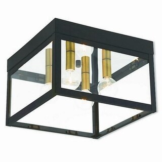 Livex Lighting 20589-07 Nyack 4 light Bronze Outdoor Ceiling Mount
