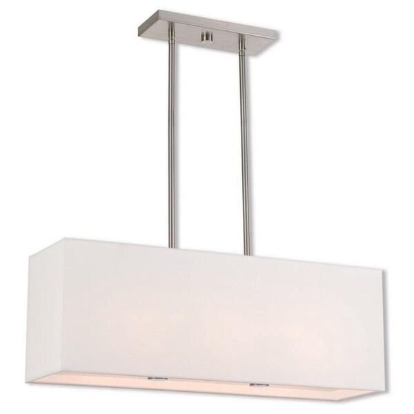 Livex Lighting 41153-91 Summit 3 light Bronze Indoor Chandelier - Silver