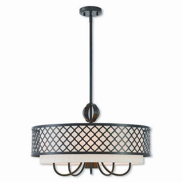 Livex Lighting 41116-92 Arabesque 6-light Bronze Indoor Chandelier