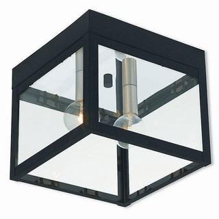 Livex Lighting 20588-04 Nyack 2 light Black Outdoor Ceiling Mount