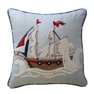 Waverly Kids Ride the Waves Pirate Ship Decorative Accessory Throw Pillow