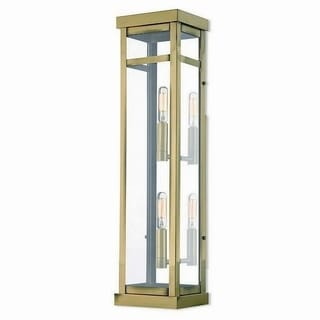 Livex Lighting 20706-01 Outdoor Wall Lantern 2 light Antique Brass