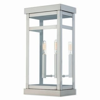 Livex Lighting 20704-91 Outdoor Wall Lantern 2 light Brushed Nickel