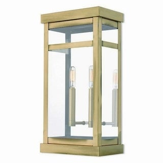 Livex Lighting 20704-01 Outdoor Wall Lantern 2 light Antique Brass
