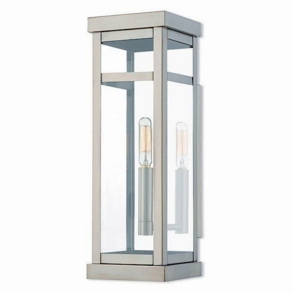 Livex Lighting 20703-91 Outdoor Wall Lantern 1 Light Brushed Nickel