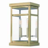 Livex Lighting 20702-01 Outdoor Wall Lantern 2 light Antique Brass