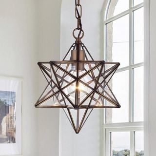 Warehouse of Tiffany Minkar 1-light Antique Bronze Star Pendant