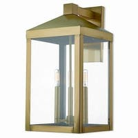 Livex Lighting 20585-01 Outdoor Wall Lantern 3 light Antique Brass