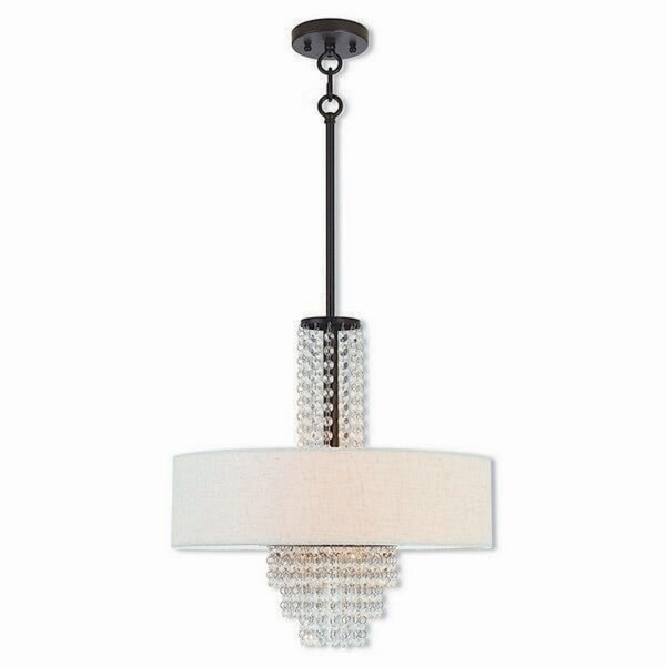 Livex Lighting 51113-92 Carlisle Bronze 4-light Indoor Chandelier