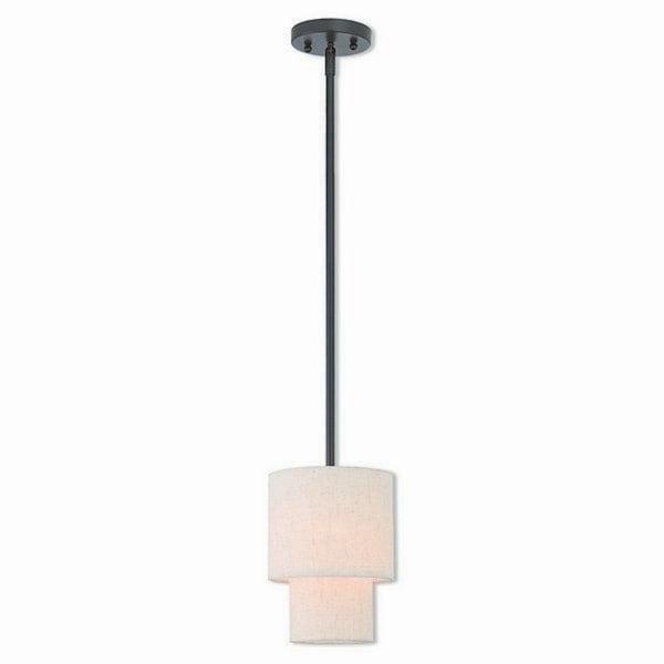 Livex Lighting Claremont Bronze Finish Steel Indoor Mini Pendant