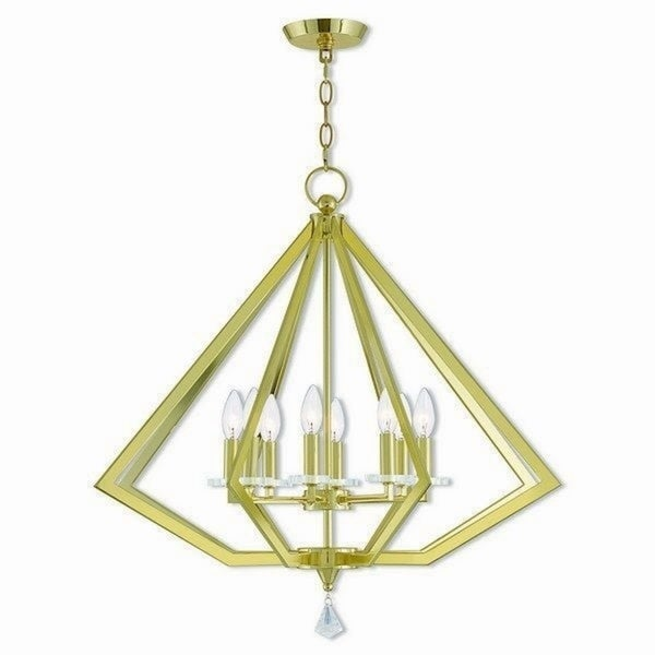 Livex Lighting 50668-02 Diamond Polished Brass Steel Indoor 8-light Chandelier