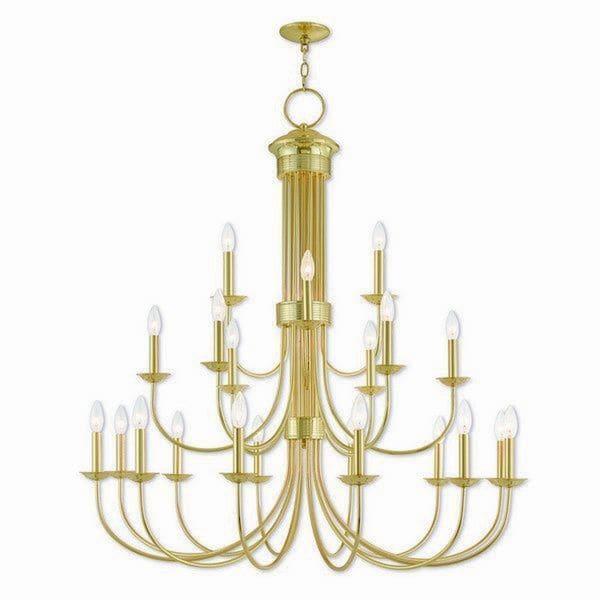 Livex Lighting 42688-02 Estate Polished Brass Over 20-light Indoor Chandelier