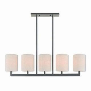 Livex Lighting 42428-07 Hayworth Bronze Steel 5-light Indoor Chandelier