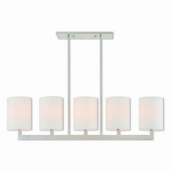 Livex Lighting 42406-91 Hayworth 5 light Brushed Nickel Indoor Chandelier - Silver