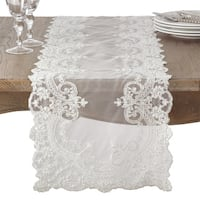 Embroidered Floral Lace Beaded Antique Style Table Runner