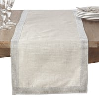 Jeweled Trim Studded Design Table Runner
