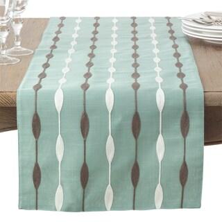 Modern Embroidered Design Table Runner (Option: Aqua)