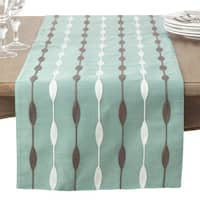 Modern Embroidered Design Table Runner