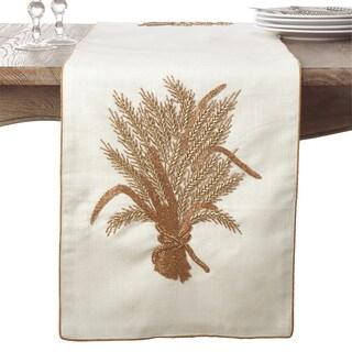 Beaded Harvest Design Thanksgiving Cotton Table Runner