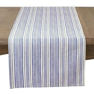 Modern Block Stripe Design Cotton Table Runner