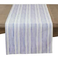 Modern Block Stripe Design Cotton Table Runner