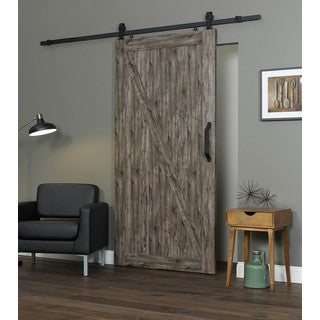 Millbrooke 42w x 84h PVC Z Barn Door Kit