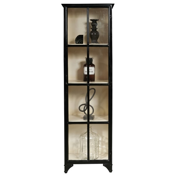 Sunset Park Black Iron Glass Display Cabinet