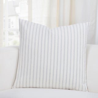 SIScovers Ticking Stripe Pewter Accent Throw Pillows