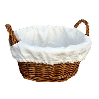 Cheung's Willow 10 Inch Diameter Round Basket - Lined