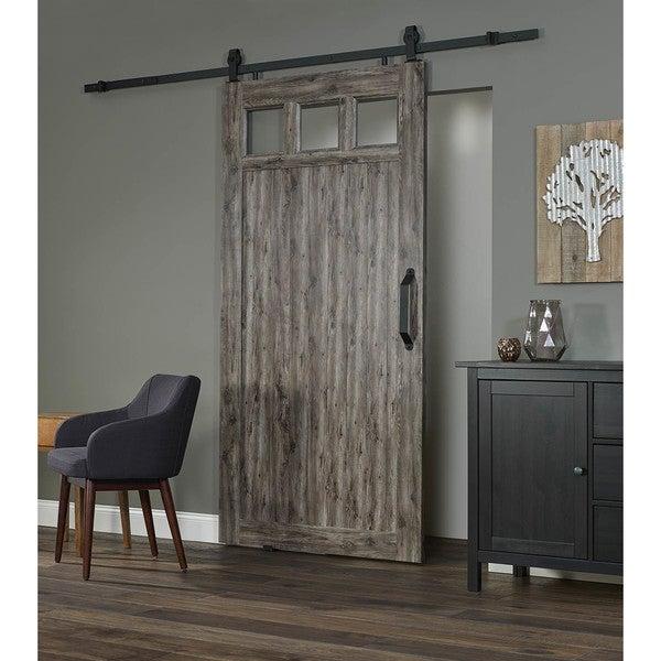 Millbrooke 42w x 84h PVC Window Barn Door Kit