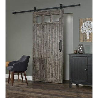 Millbrooke 42w x 84h PVC Window Barn Door Kit
