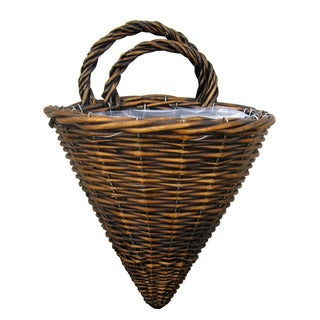 Cheung's Willow Wired Set of 2 Lined Wall Basket