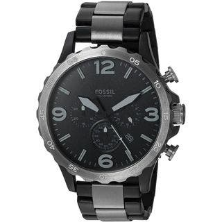 Fossil Men's JR1401 Nate Black Stainless Steel Watch ...