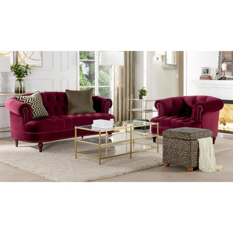 Gracewood Hollow Zeleza Tufted Accent Chair