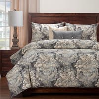 Siscovers Cindersmoke Luxury Cotton-Linen Duvet Set